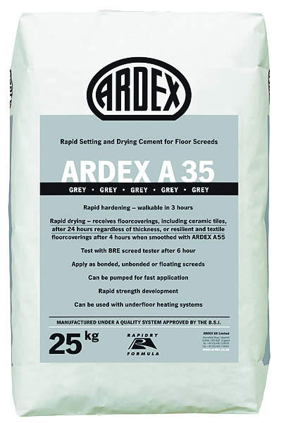 Ardex A35 Rapid Setting & Drying Cement for Floor Screeds main image