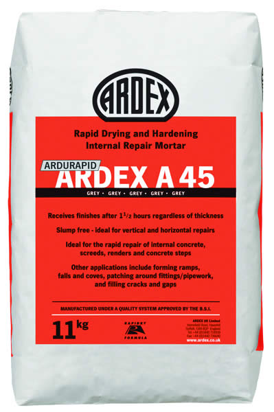 Ardex A45 Rapid Hardening & Drying Internal Repair Mortar main image