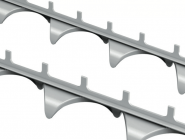 Zig Zag Track Spacers With Pointed Feet & Knobs illustration 418